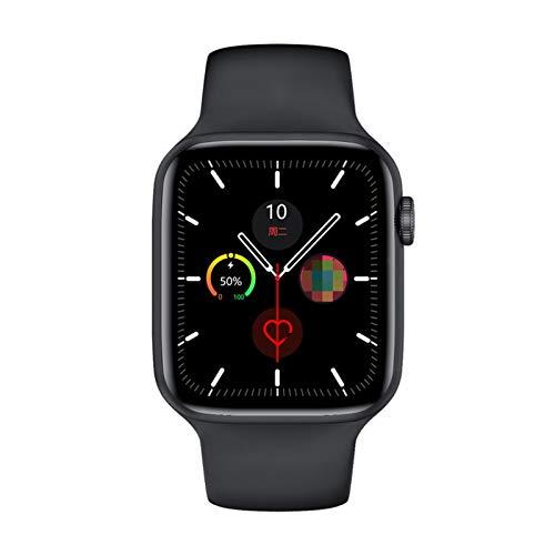 Serie 6 Smart Watch IWO W26 Smartwatch W26 / W26M EKG Herzfrequenzmonitor Temperatur Wasserdicht Für Apple Android W26 Pro (Color : Black, Size : 44mm W26)