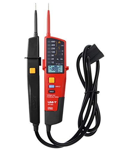 Spannungstester und Durchgangsprüfer, UNI-T UT18C Multifunktion Wasserdichte Digital Voltage Meter Voltmeter Spannung Tester 12V~690V AC/DC Automatische Reichweite LCD Anzeigen