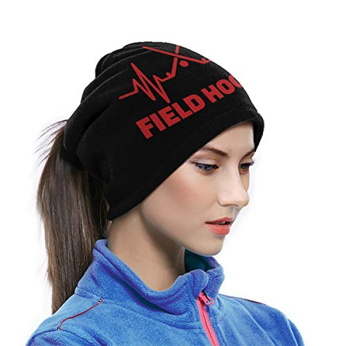 Multifunctionele Nek Warmer Xmas Present Winddicht Gezichtsmasker Winter Snood Sjaal Loop Wikkel Outdoor Fietsen Hoed Sjaals voor Mannen of Vrouwen| Field Hockey Heartbeat