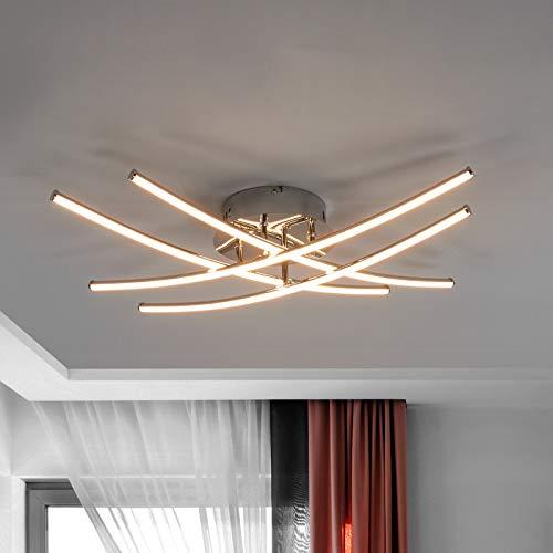 Lindby LED Deckenleuchte 'Yael' (Modern) in Chrom aus Metall u.a. für Küche (A+, inkl. Leuchtmittel) - Lampe, LED-Deckenlampe, Deckenlampe, Küchenleuchte