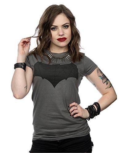 DC Comics Mujer Batman Dark Knight Logo Camiseta Medium Grafito luz