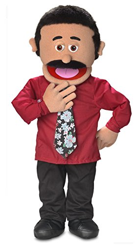 30' Carlos, Hispanic Dad / Businessman, Professional Performance Puppet with Removable Legs, Full or Half Body