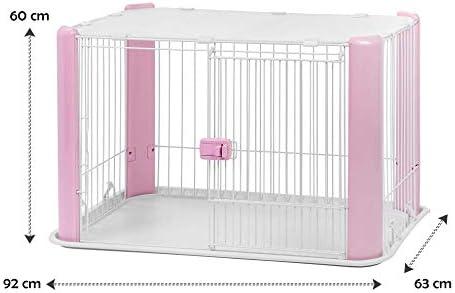 Iris Ohyama 530759 Chien Cage Parc d'Extérieur Enclos Chenil Rose Europe Cls-960 1 kg