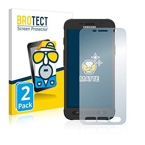 BROTECT 2X Entspiegelungs-Schutzfolie kompatibel mit Samsung Galaxy S7 Active Displayschutz-Folie Matt, Anti-Reflex, Anti-Fingerprint