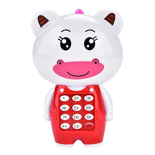 ViaGasaFamido - Juguete del teléfono móvil, 12 Funciones Digitales, Botones dinámicos, música, Dibujos Animados, Modelos Musicales, teléfono móvil para 3 años Anterior y Anterior