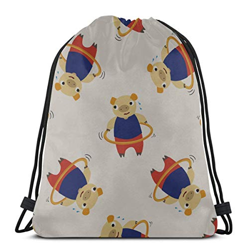Light Ing Cute Cartoon Fun Childlike Hula Hoop Drawstring Bags For Girls Ladies Drawstring Bag Women Drawstring Bag For Gym Outdoor Travel
