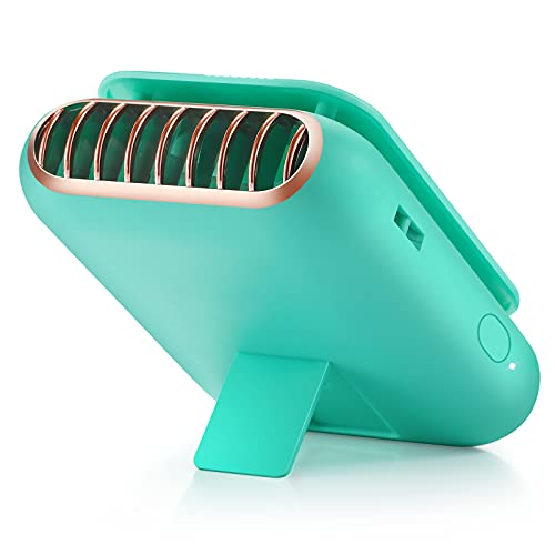 BEYIMEI ventilador portátil, ventilador de cordón USB recargable, ventilador de mano que puede cambiar tres velocidades de viento, utilizado en la Oficina/Hogar/Viajar/Acampar (verde)