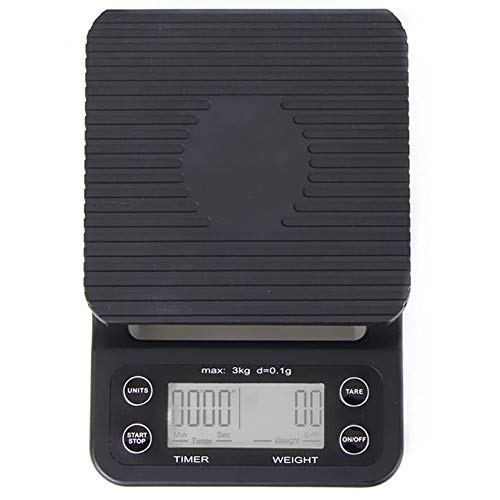 WANGXN elektronische weegschaal, hoge precisie, ABS-kunststof, multifunctioneel, met LCD-display, zwart, maat 2