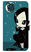 [LG it LGV36] スマホケース 手帳型 ケース デザイン手帳 エルジー イット 8325-A. 星空traillグリーン かわいい 可愛い 人気 柄 ケータイケース ヌヌコ 谷口亮