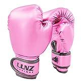 Luniuqz Guantes de Boxeo para Niños de 3-14 Años, Guante de Entrenamiento 4oz 6oz para MMA, Muay Thai,Kickboxing