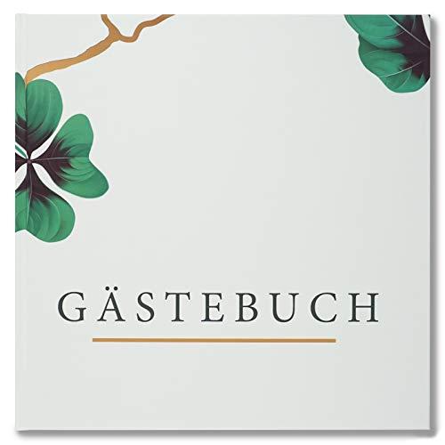 Presentou Gästebuch mit Hardcover 21x21cm | Fotobuch zur Hochzeit Taufe oder Geburtstag |...