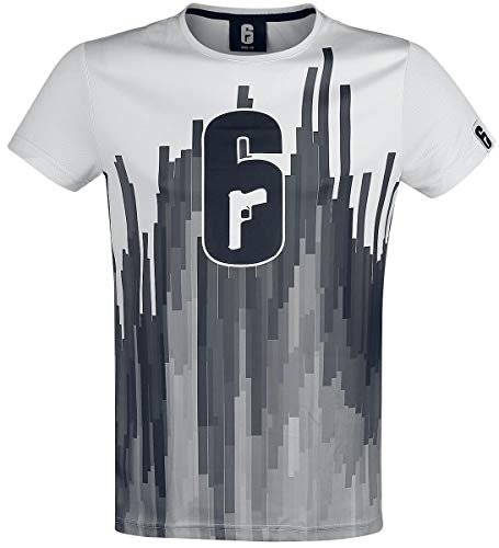 Rainbow Six Siege - Logo Männer T-Shirt weiß XL, 100% Polyester, Esports, Fan-Merch, Gaming