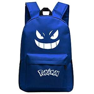 41X3q9JJa5L. SS300  - Pokemon Mochila con ojos luminosos, bolsa de Pokemon para niños y niñas, mochila escolar de viaje, Mochila luminosa…