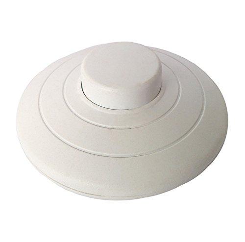 MZMing [1 Pack Interruptor de Prensa de pie en línea para lámpara estándar para 2 o 3 Core Flex In White para lámpara de Piso y Mesa - Interruptor de 70 mm de diámetro