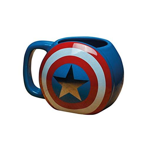 Marvel Avengers Captain America Shield Tasse, Keramik, Mehrfarbig, 10x 13x 9cm