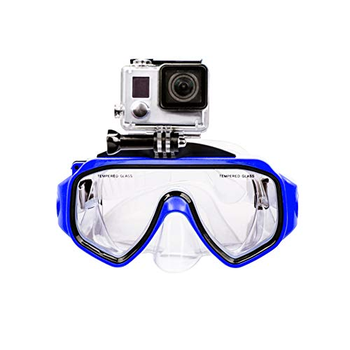 LiDCH Duikmasker met afneembare Schroefhouder voor GoPro Hero 7/6/5/4/3+/3, Gehard glas Zwembril Anti-Fog Lens voor Freediving Spearfishing Snorkeling