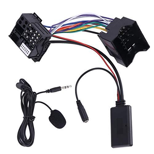 Fltaheroo Cable Adaptador de Audio AUX para Coche + Mic para 307308407 RD4 Radio CD