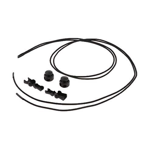IPOTCH Elastische Schnürsenkel Schnellschnürsystem ohne Binden, Farbewahl - Tiefes Schwarz