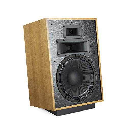 Best Prices! Klipsch Heresy IV Floorstanding Speaker – Three-Way, Horn-Loaded Speaker with Updated Design and Rear Port for Crystal, Clear Sound (Natural Cherry)