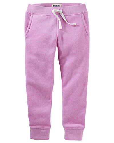 OshKosh B'Gosh Girls' Kids Fleece Jogger Pants, Purple, 8