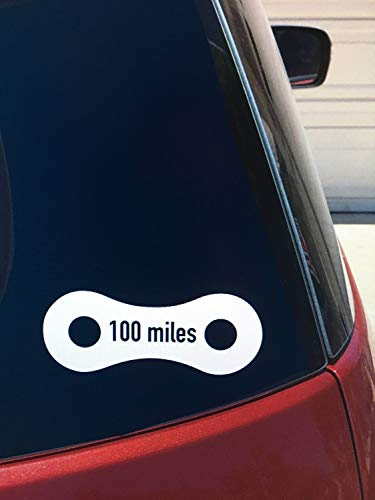 DKISEE Decal Sticker 100 Mile Bike Ride Car Window Decal, Century Cycling Sticker, Bicycle Race Vinyl Laptop Vinyl Decal Window Wall Sticker Car Decal 6 inch