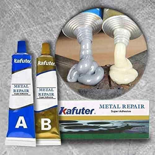 Metal Repair Gel - Caster Glue Ab Group Double Tube Industrial Heat Resistance Cold Weld Metal Repair Paste, Plastic Cement Repair Agent (100g)