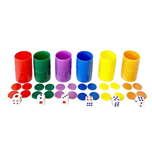 Fichas Parchis 6 Colores Marca Acan