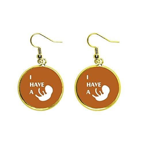 Body Embarazo Bebé Amor Art Deco Regalo Moda Oído Cuelga Oro Gota Pendiente Joyería Mujer