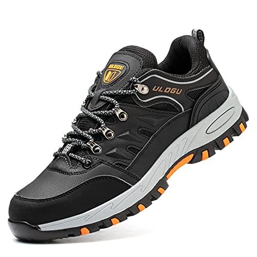 Scarpe Antinfortunistiche Uomo Donna Leggere Traspirante Sneakers da Lavoro con Punta in Acciaio Scarpe Sicurezza Nero 37-46EU