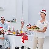 CINMOK Weihnachten Tischläufer Rot Tischdecke Rentier Tisch Läufer Weihnachts Tischband Winter Mitteldecke Weihnachtstischdecken Xmas Tischtuch für Esstisch Weihnachtsessen Kommunion Tischdeko - 6