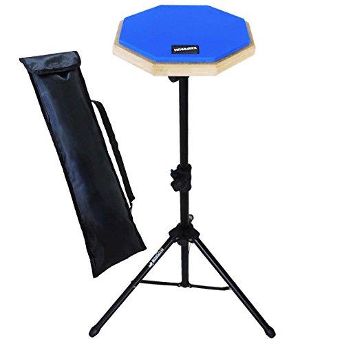 keepdrum DP-BL Set Practice Pad Blau mit Übungspadständer und Tasche
