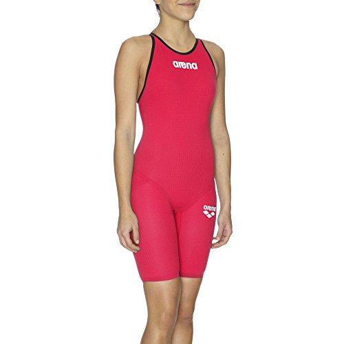 ARENA W Pwsk Carbon Pro Mk2 Fbslc Bañador 1 Pieza, Mujer, Rojo (Bright Red), 32