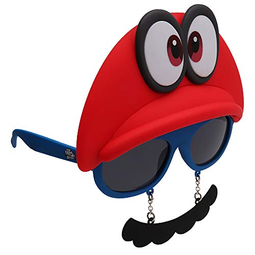 Sun-Staches Nintendo Super Mario Odyssey Cappy Shades Costume Video Game...