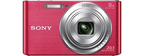 Sony DSC-W830 Digitalkamera (20,1 Megapixel, 8x optischer Zoom, 6,8 cm (2,7 Zoll) LC-Display, 25mm Carl Zeiss Vario Tessar Weitwinkelobjektiv, SteadyShot) pink