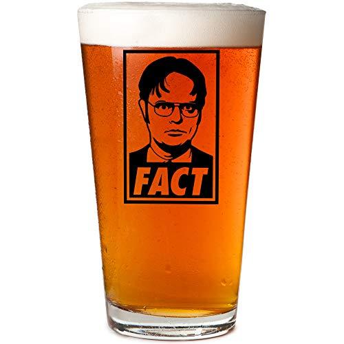 Dwight Schrute Fact Office Mug Beer Pint Glass