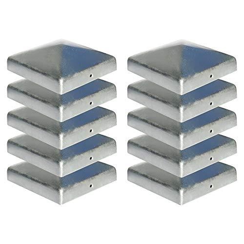 Premium Pfostenkappe 141x141 mm aus Stahl feuerverzinkt f/ür Pfosten 14 x 14 cm Zaunkappe Abdeckkappe Gartenwelt Riegelsberger 10 St/ück