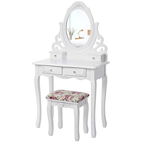 Songmics Blanc Coiffeuse Table de...