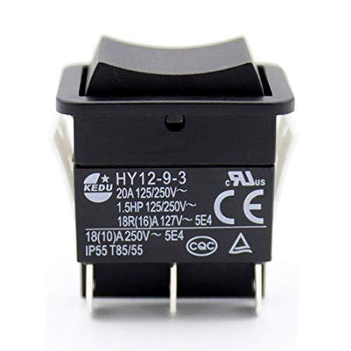 Irinay Kedu Industrie Elektrische Drucktaster Großer Strom An Aus Auf Chic Wippschalter Hy12 9 3 1,5 Ps 6 Pins Tab 20A 125/250 V 2 Stück Sale Home Täglich Gebrauch Produkt