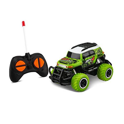 TENOL Kinder RC Spielzeug Alter 2-6 Elektroauto Spielzeug für 3-5 Jahre Jungen, Fernbedienung LKW für 4-5 Jahre alte Jungen 4-5 Jahre Kinder FJ Cruiser grün