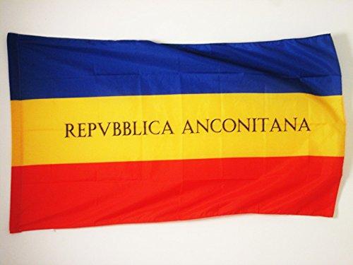 AZ FLAG Drapeau République ancônitaine 1797-1798 150x90cm - Drapeau Italien Ancien - Italie 90 x 150 cm Fourreau pour hampe