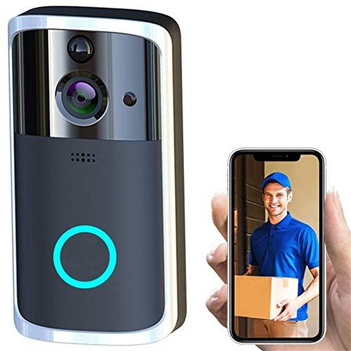 Yangangjin WiFi video deurbel, smart-deurbel, beveiligingscamera met PIR-bewegingsdetectie en app-besturing voor iOS en Android
