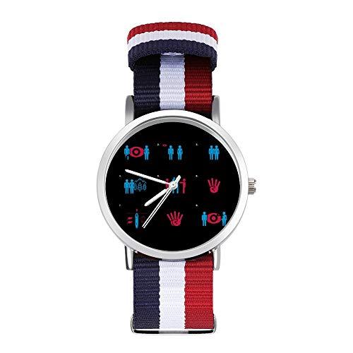 1984 Nineteen Eighty Four Symbols Montre bracelet tressé...