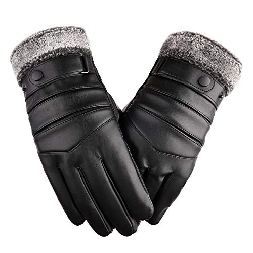 PeroFors Thermo Leder Skihandschuhe Mann Frau Winter Warmer Touchscreen Anti-Rutsch-Handschuh