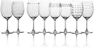 24 oz. Elegant Chic Dishwasher safe Cheers Red Wine Glasses (Set of 8) By Mikasa, Perfect For Any Occasion