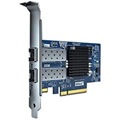 The Intel 82599ES chip is used as the main control chip to effectively prevent packet loss, makes the servers more stable when running uninterrupted. Dual SFP+ Ports, can connect 10Gb/s SFP+ Transceiver Modules or SFP+ Direct Attach Copper Cables, bu...