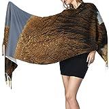 27'x77 Bufandas hermosas para mujeres Bufandas fuertes y feroces Bisonte de moda para mujeres Chal de abrigo lindo Elegante manta cálida grande