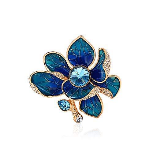 QTBH Brooch Pin Accesorios de Moda Perla Broche Elegante Lady Peony Corsage Estilo Chino Accesorios clásicos Abrigo Cheongsam Pin (Peacock Azul) Broche para Mujer
