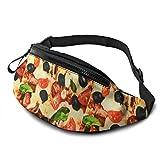 XCNGG Bolso de cintura corriente bolso de cintura de ocio bolso de cintura bolso de cintura de moda Burritos Flour Tortilla Waist Pack Bag for Men Women,Casual Running Belt Bags Hip Bum Bag with Adjus