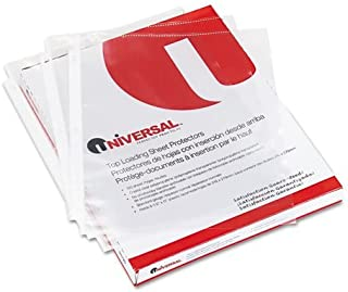 2 Packs of Universal Economy Sheet Protectors Economy Letter 200/Box, UNV-21127