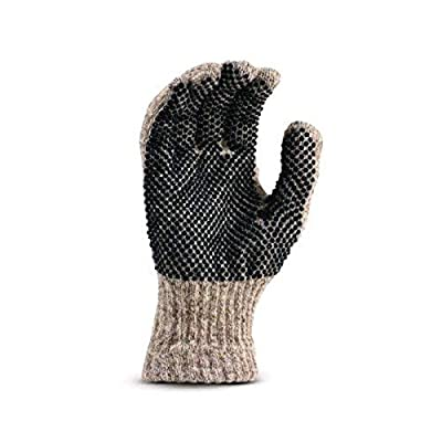 Fox River Men's Gripper Ragg Glove, Brown Tweed, Large